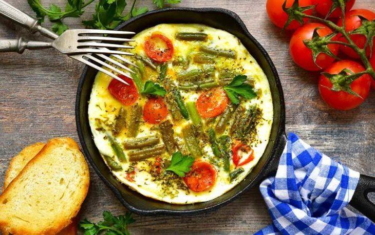 рецепт стручковой фасоли с яйцом