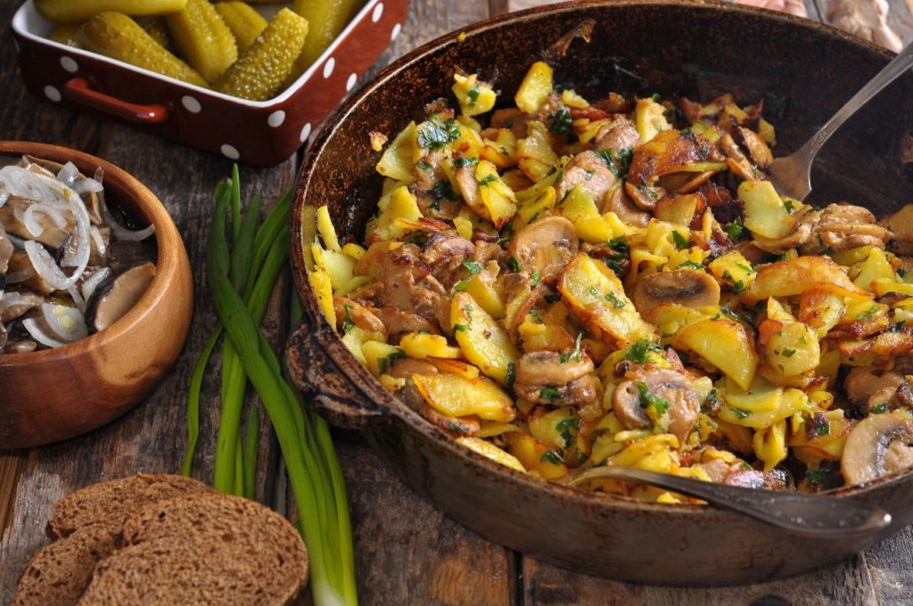Вкусные рецепты картофеля с грибами