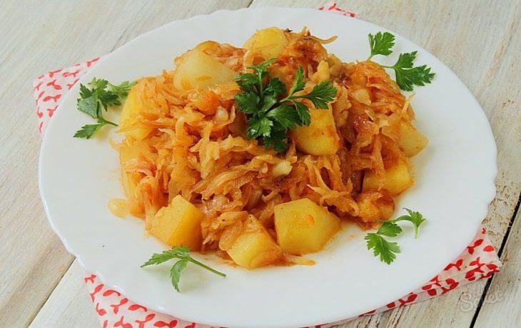 рагу из капусты и картофеля