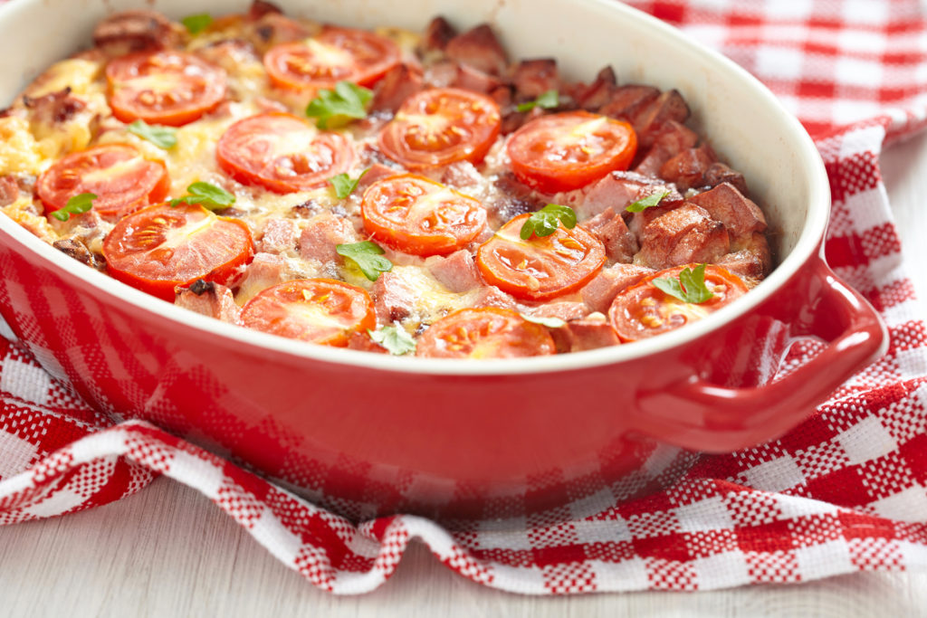 Запеканка из картофеля: постная, с помидорами, при похудении