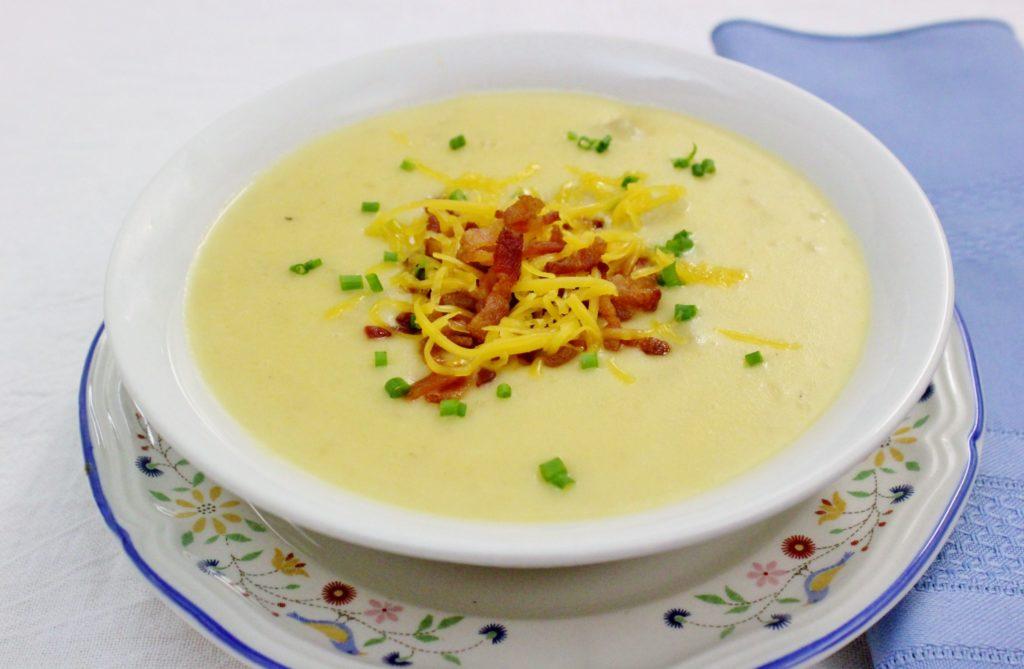Рецепт супа-пюре из картофеля, крем супа, с сыром