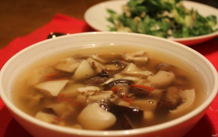 суп из шампиньонов с картофелем рецепт пошаговый