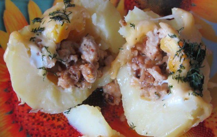 картофель с фаршем в духовке рецепты