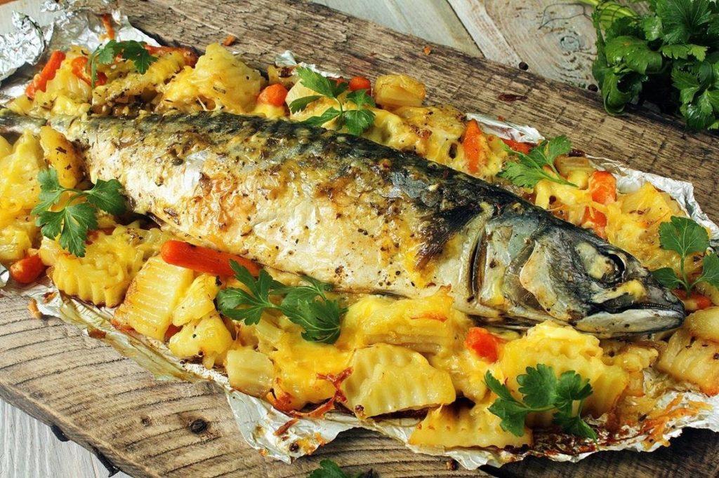 Простые рецепты рыбы с картофелем в духовке