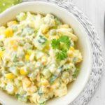 Вкусные салаты из огурцов, кукурузы и яйца