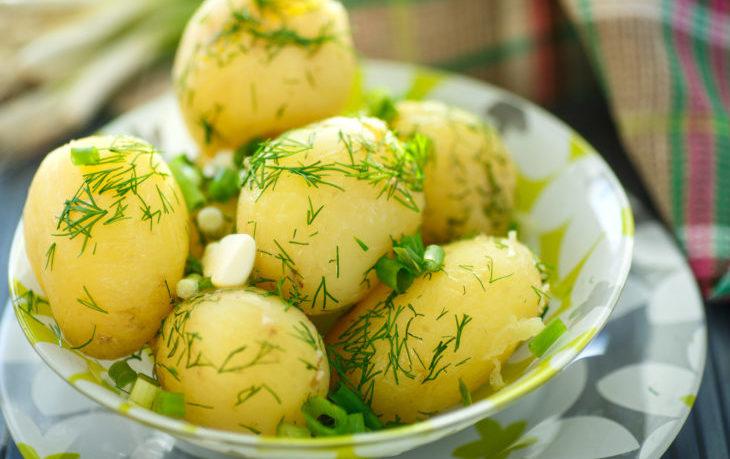 картофель отварной калорийность