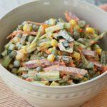 Рецепты салатов с горошком, кукурузой, огурцом
