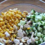 Рецепты салатов с курицей, кукурузой, огурцами