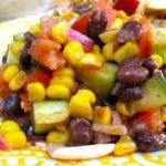Рецепты салатов с фасолью, кукурузой, огурцами