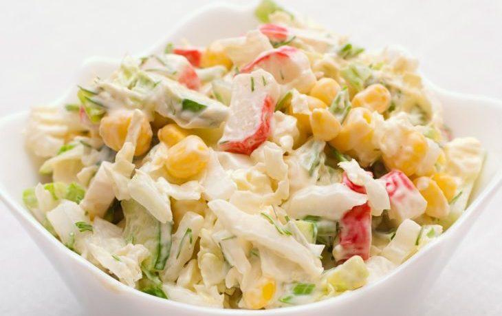 кукуруза, крабовые палочки, капуста рецепты салат