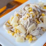 Рецепты куриных салатов с ананасами и кукурузой