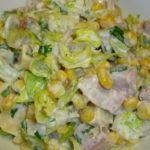 Рецепты салатов с вареной курицей и кукурузой