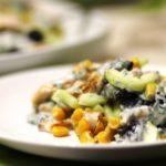 Рецепты салатов с грибами, кукурузой, огурцами
