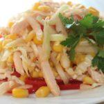 Рецепты салатов с курицей, кукурузой, перцем