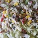 Вкусные крабовые салаты с грибами и кукурузой