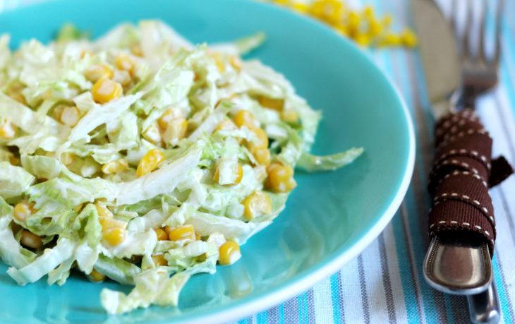 салат с капустой и кукурузой без майонеза
