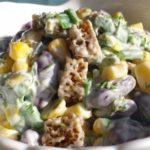 Рецепты постных и быстрых салатов с фасолью, сухариками и кукурузой