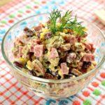 Рецепты салатов с Кириешками и кукурузой