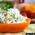 Рецепты салатов с китайской капустой и кукурузой