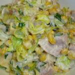 Рецепты салатов с копченым окорочком и кукурузой