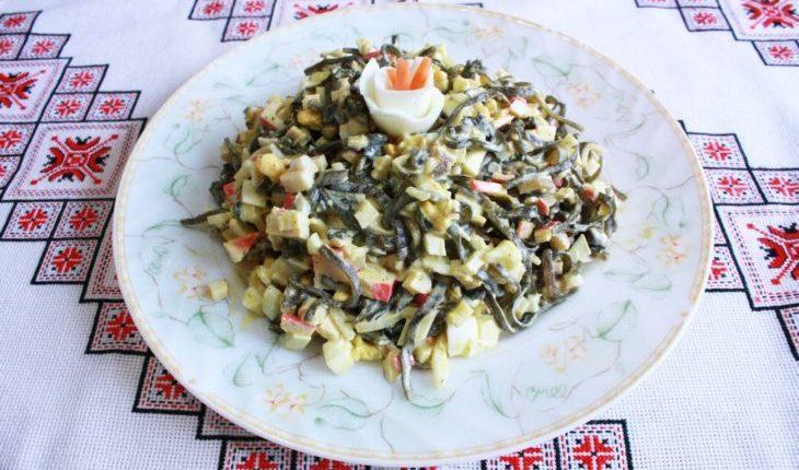 салат с морской капустой и кукурузой рецепт