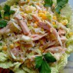 Рецепты салатов с кукурузой и мясом