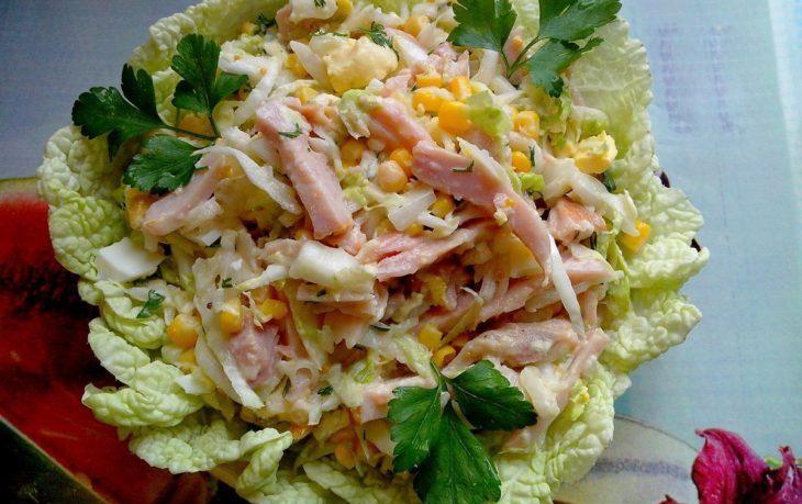 салат с мясом и кукурузой рецепт