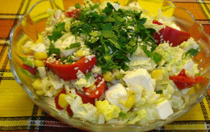 салат с помидорами и кукурузой рецепт