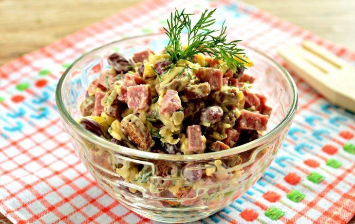 салат с ветчиной и кукурузой рецепт