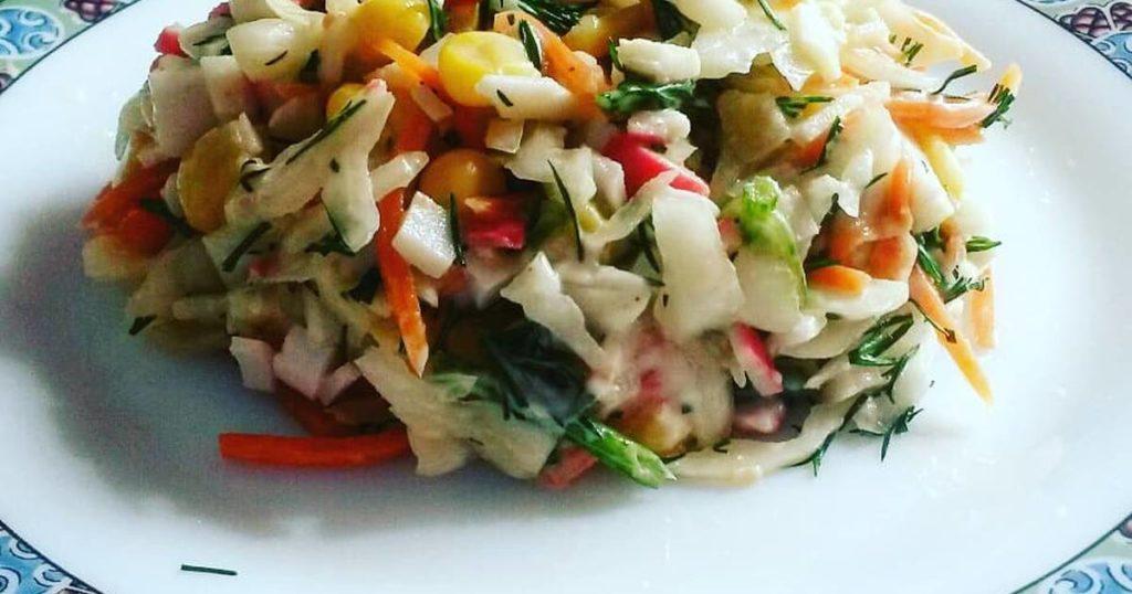Рецепты постных салатов с кукурузой