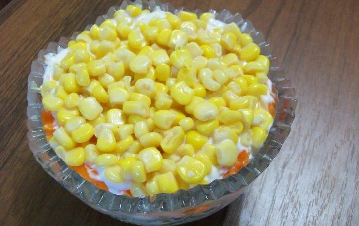 салат мимоза с кукурузой рецепт