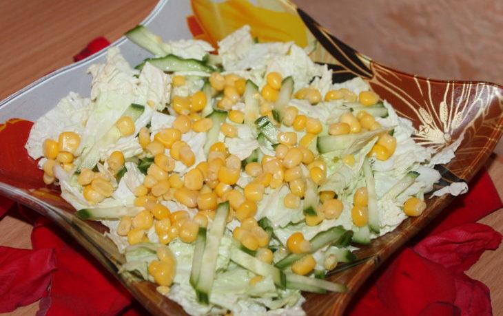 диетический салат с кукурузой