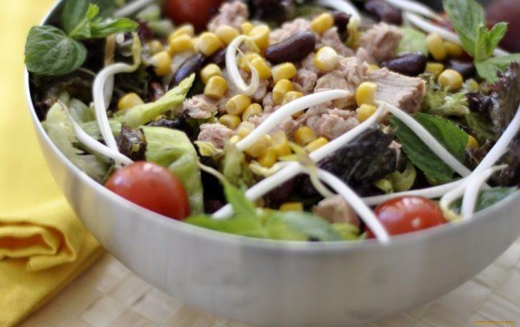 рецепт салата с говядиной и кукурузой