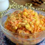 Праздничные рецепты салатов с корейской морковкой и кукурузой