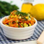 Вкусные рецепты салатов с корейской морковью и кукурузой