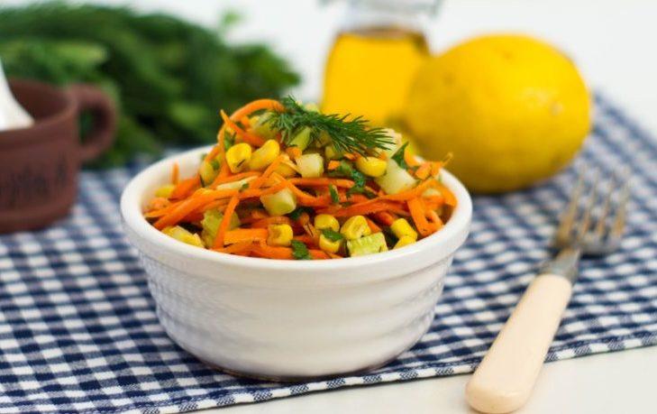 салат с корейской морковью и кукурузой рецепт