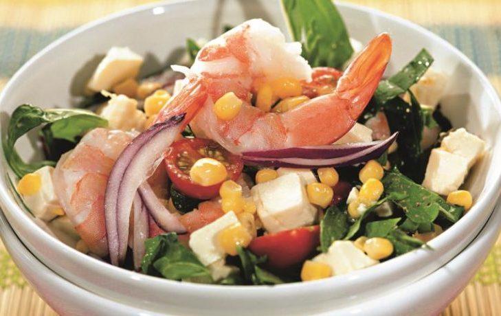 салат с креветками и кукурузой рецепт