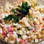 Рецепты салатов с красным, сладким перцем и кукурузой