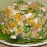 Праздничные салаты из трески и кукурузы