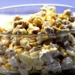Вкусные праздничные салаты с печенью и кукурузой