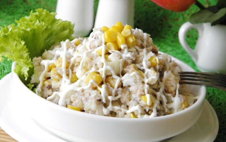 салат с рисом и кукурузой рецепт