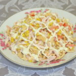 Рецепты салатов с кукурузой и помидорами, перцем