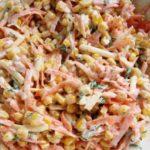 Рецепты салатов с кукурузой, морковкой и капустой, яйцом