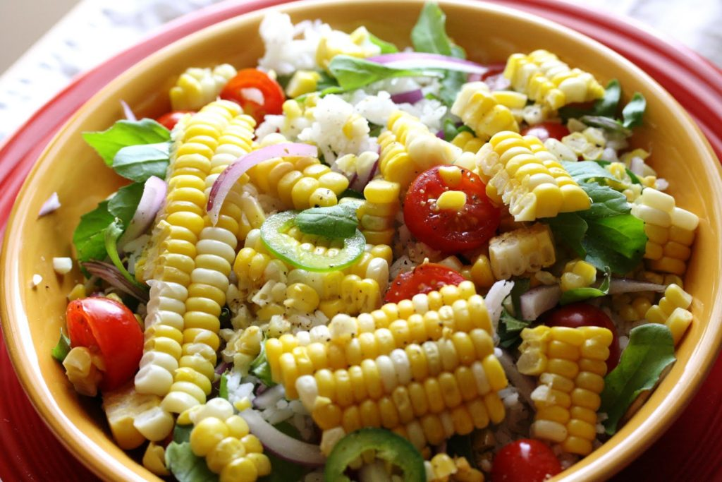 Рецепты салатов с початками кукурузы