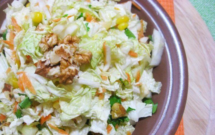 рецепт салата из пекинки и кукурузы