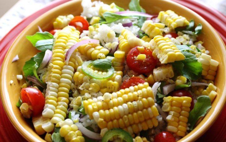 салат из молодых початков кукурузы