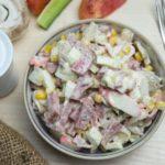 Рецепты салатов с кукурузой и сервелатом, салями, шинкой