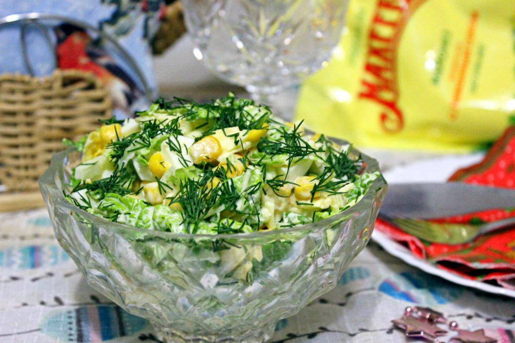 Рецепты салатов с укропом и яйцом, помидором, морковью, сыром