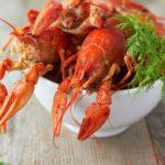 Рецепты раков, рыбы, креветок с укропом