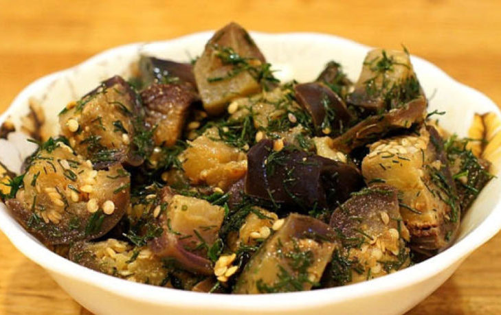 рецепт баклажанов с чесноком и укропом